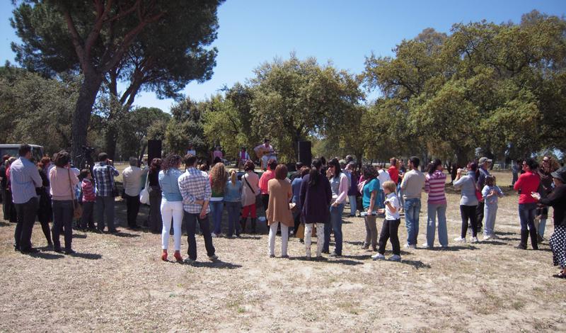 Fiesta de la Primavera en la aldea de El Rocío.