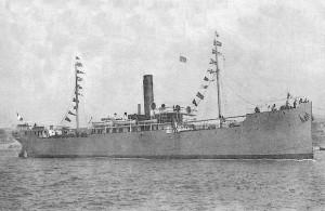 """El """"Sidi Ferruch"""", buque francés similar a nuestro protagonista, construido en la misma época y astillero."""