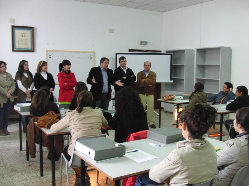 Participantes en el taller de empleo 'Campo Baldío Social'.