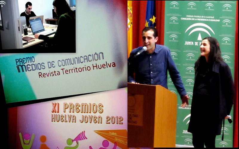 Los jóvenes recibieron el Premio Huelva Joven en la categoría de Medios de Comunicación.