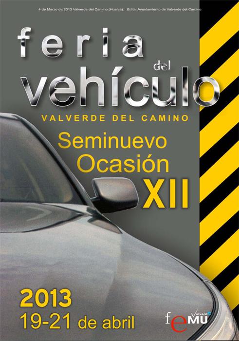 Cartel de la Feria del Vehículo de Valverde 2013.
