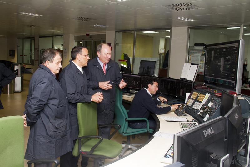 Caraballo ha conocido las instalaciones de la empresa.