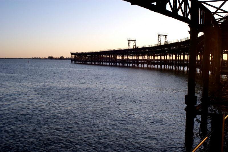 Muelle del Tinto, emblema de Huelva.
