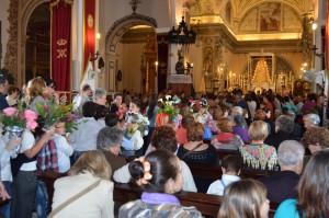 Ante la Virgen del Rocío.