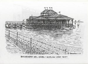 El Balneario del Odiel visto por la plumilla de José Bacedoni.
