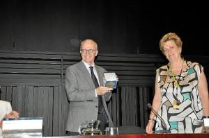 El Premio Nobel de Economía en 2004, Finn E. Kydland, en el Congreso Anual de la AEDEM 2012.