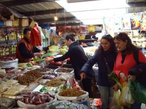 En un mercado de abastos Shanghai.