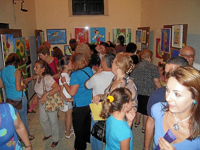 Exposición del taller de pintura.