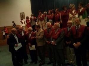 Los becados, graduados y post-graduados fueron felicitados por el numeroso público asistente