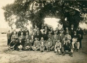 Foto de familia en la inauguración de la estación de La Encarnación