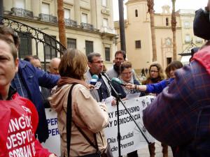 Lectura del Manifiesto en el Día de la Libertad de Prensa 2012.