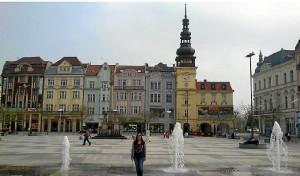 Lourdes, en la Plaza de Masaryk de Ostrava.