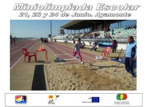 Cartel de la Miniolimpiada que se celebra en Ayamonte.