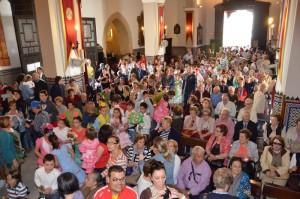 La iglesia ha estado abarrotada.