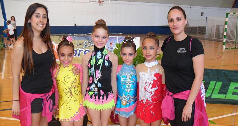 Buena cosecha de medallas para el Club Rítmico Colombino en su doble cita en la provincia de Cádiz