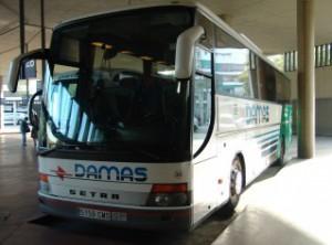 Un autobús de la empresa DAMAS.