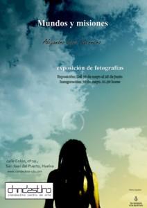 Cartel de la exposición 'Mundos y misiones'en el Centro Clandestino