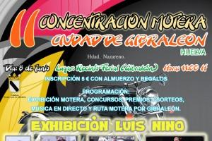 Cartel anunciador del evento motero de Gibraleón.
