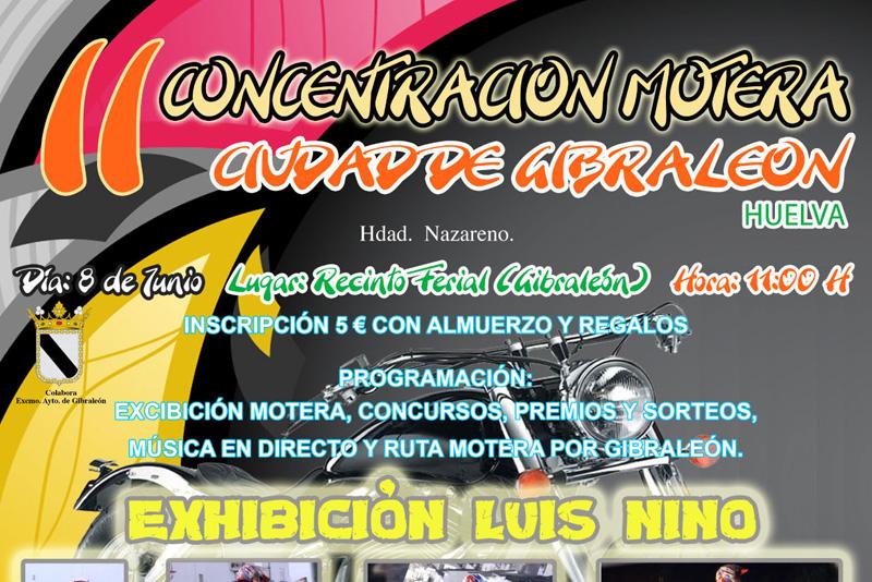 Cartel anunciador de la concentración motera de Gibraleón.