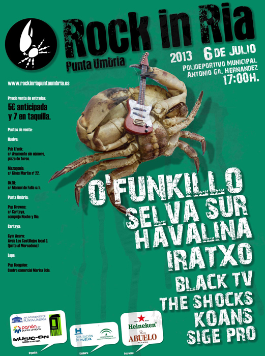 Todo listo en Punta Umbría para celebrar el Festival de Música Joven 'Rock in Ría'