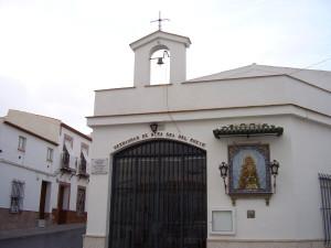 Capilla de la Hermandad en Trigueros. / Foto: http://www.retabloceramico.net/0894.htm