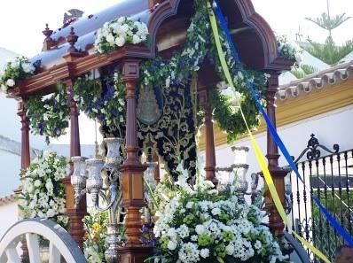 La Carreta de la Hermandad del Rocío de Chucena estrenará un Pastorcito y dos candelabros delanteros en su camino a la aldea almonteña