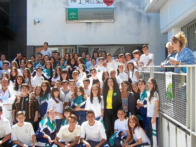 Flashmob en el colegio La Hispanidad.