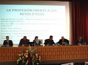 Rafael Terán, en el Congreso de Ética Periodística celebrado en la Universidad de Sevilla.