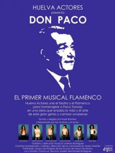 Cartel del Musical 'Don Paco' de Huelva Actores.