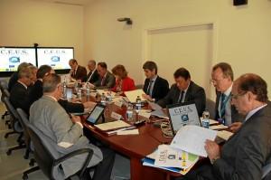 Reunión de la Comisión de Seguimiento del proyecto de aviones no tripulados, celebrada en el INTA.