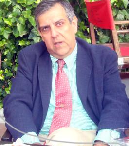 Juan José García del Hoyo, durante la tertulia.
