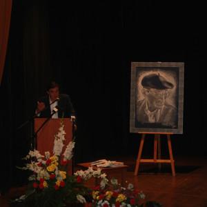 Vicente Zarza, durante la inauguración del maratón de lectura.