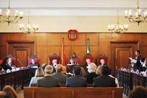 El acto estuvo presidido, entre otros, por el presidente de la Sala de lo Social del TSJA, Antonio Reinoso.