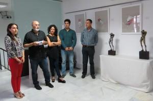 Pilar Rodríguez, Antonio Ramírez y los artistas Sol Gómez y Manuel Jiménez.