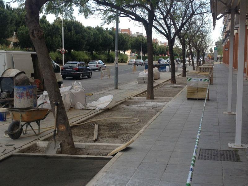Los trabajos se están desarrollando en la Avenida de Andalucía.