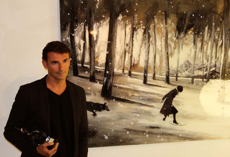El pintor Jorge Hernández, premiado con el IV Certamen Internacional 'Laura Otero' de la localidad cacereña de Miajadas
