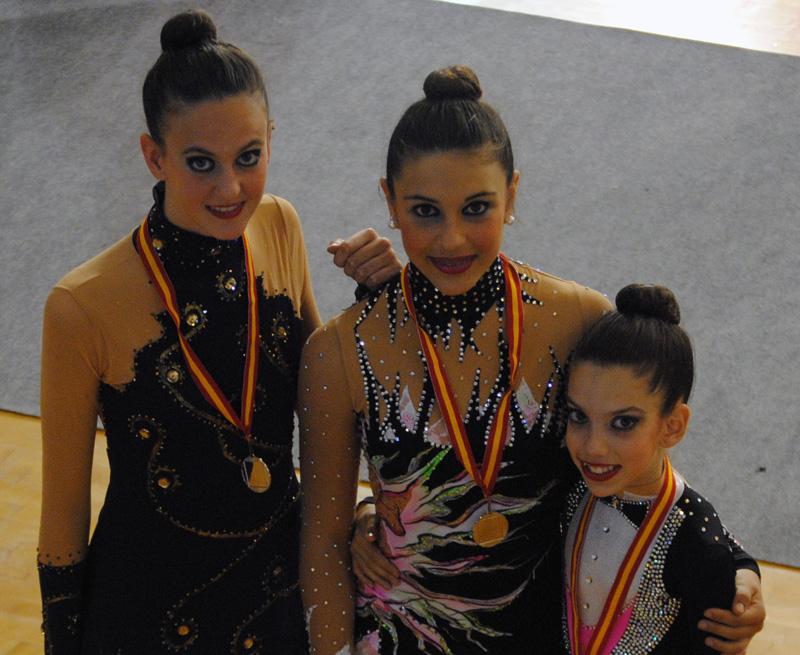 Las chicas del Club Rítmico Colombino realizaron un excelente papel en el Andaluz.