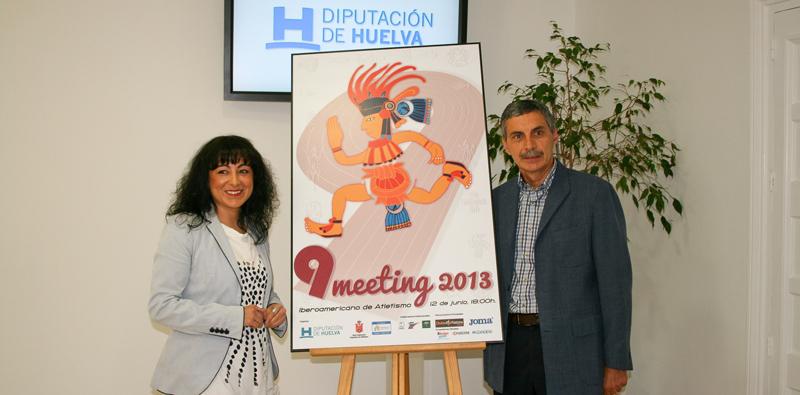 Un momento de la presentación del cartel del Meeting Iberoamericano de Atletismo.