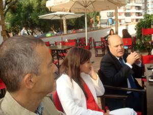 La línea Huelva Zafra ha sido uno de los temas tratados en el encuentro.