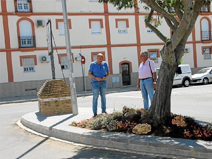 San Juan cuenta con una rotonda de entrada al cementerio.