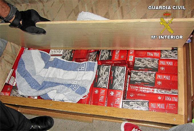 Imagen del tabaco de contrabando.