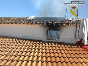 Imagen del incendio ocurrido en Villalba.