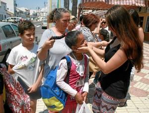 Estos niños pasan su estancia en Huelva en los meses de julio y agosto.