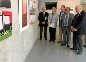 La exposición sobre José Caballero cuenta con la organización de la UNIA y la colaboración del Ayuntamiento de Punta Umbría y la   Real Sociedad Colombina Onubense.