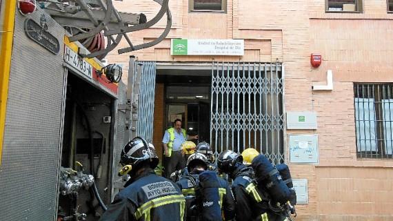 La Unidad de Rehabilitación del Área de Salud Mental de Huelva acoge un simulacro de incendios