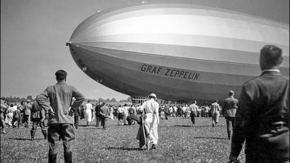 Huelva vista desde un coloso del aire: el mítico Graf Zeppelin
