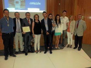 El Hospital Juan Ramón Jiménez ha reconocido la labor de los miembros del grupo parroquial.