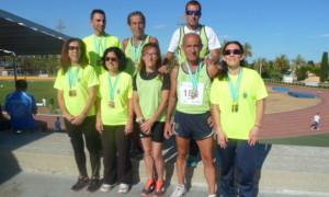 Representantes del Club Atletismo Lince Bonares.
