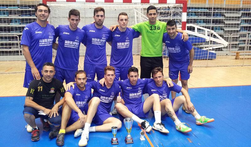 El equipo nazareno del Salón del Deporte, ganador del Maratón de Fútbol Sala en Huelva.