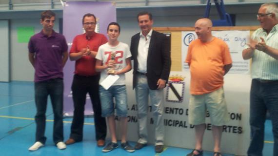 Victoria del joven de 13 años Miguel Santos en el I Open de Ajedrez de Gibraleón